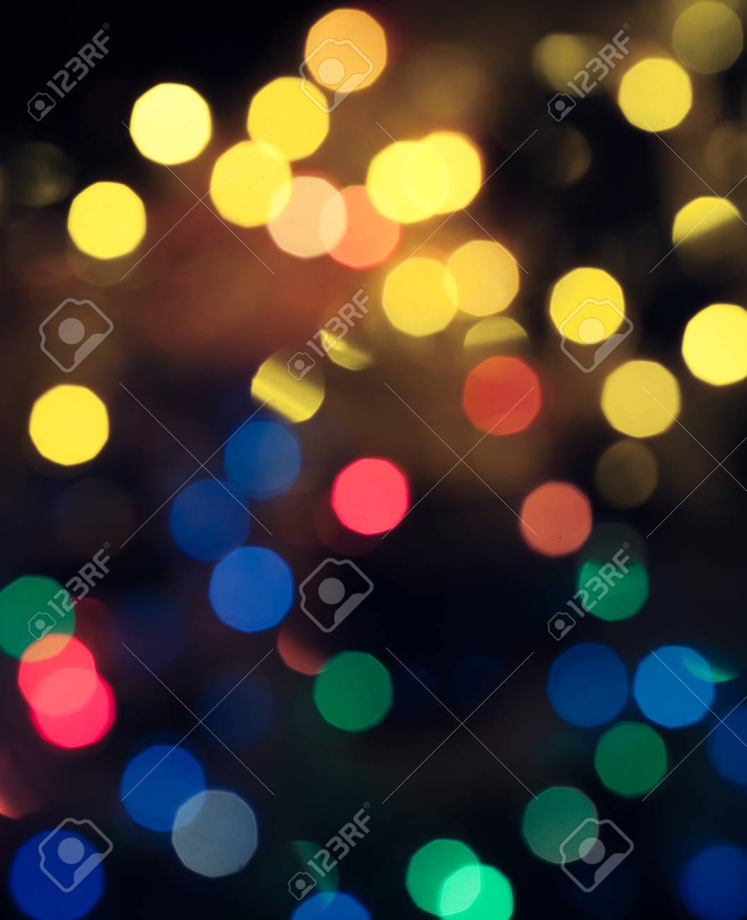 Christmas Wallpaper Abstract Circular Bokeh Of Christmas Lights