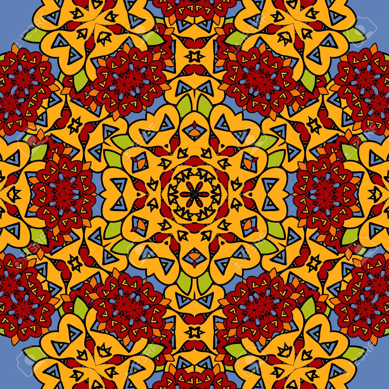 Insolite Transparente Toile De Fond De L\'art Oriental. Mandala ...