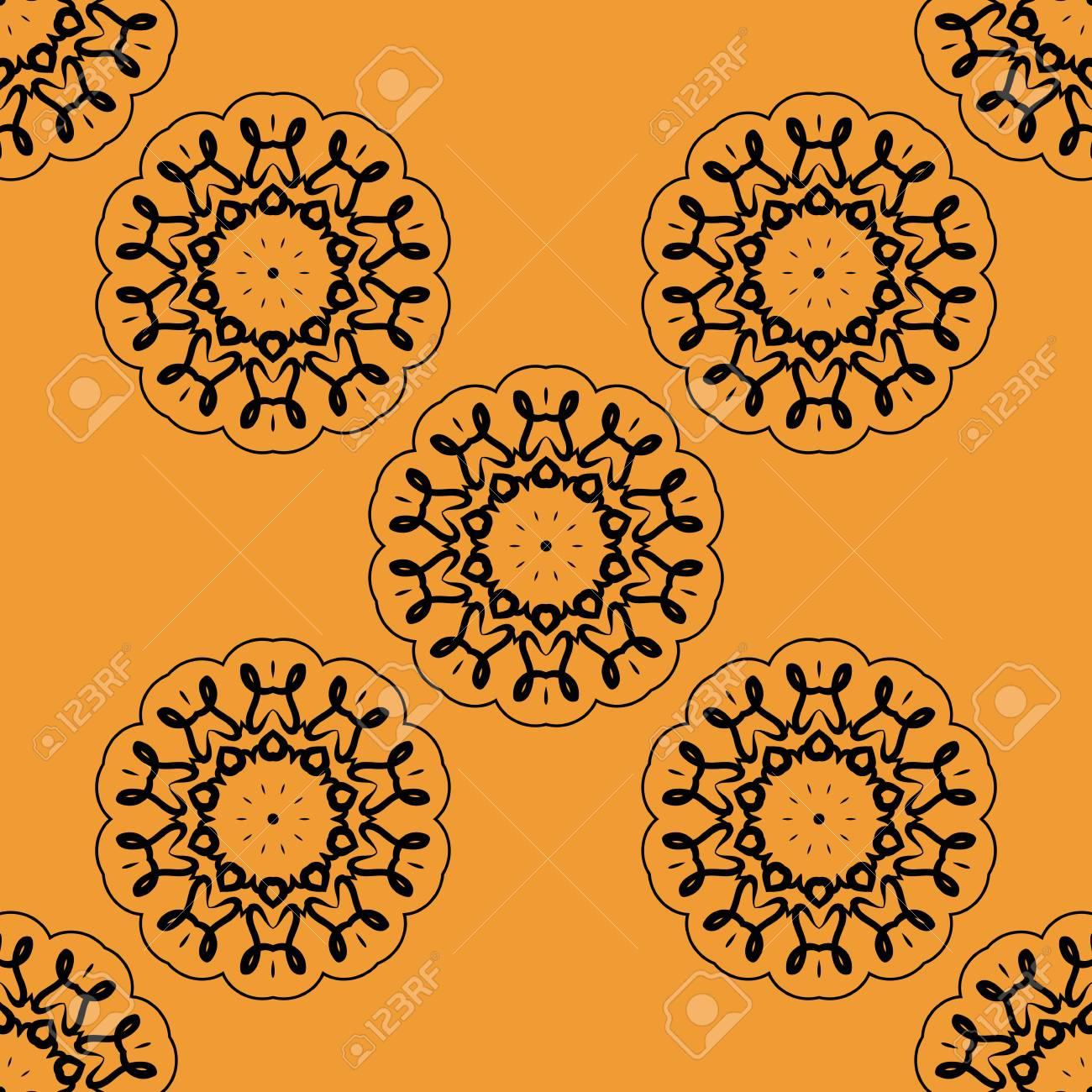 Papier A Peindre Motif stylisées orientales fleurs de peinture de henné papier peint sans soudure.  retro ornement mandala conception basée sur des cartes de voeux, brochure,