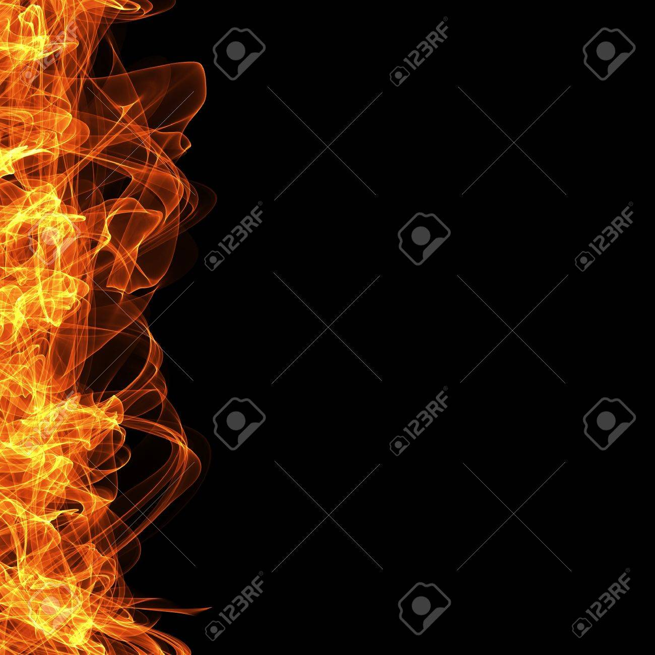 fire frame black background template for website computer graphic