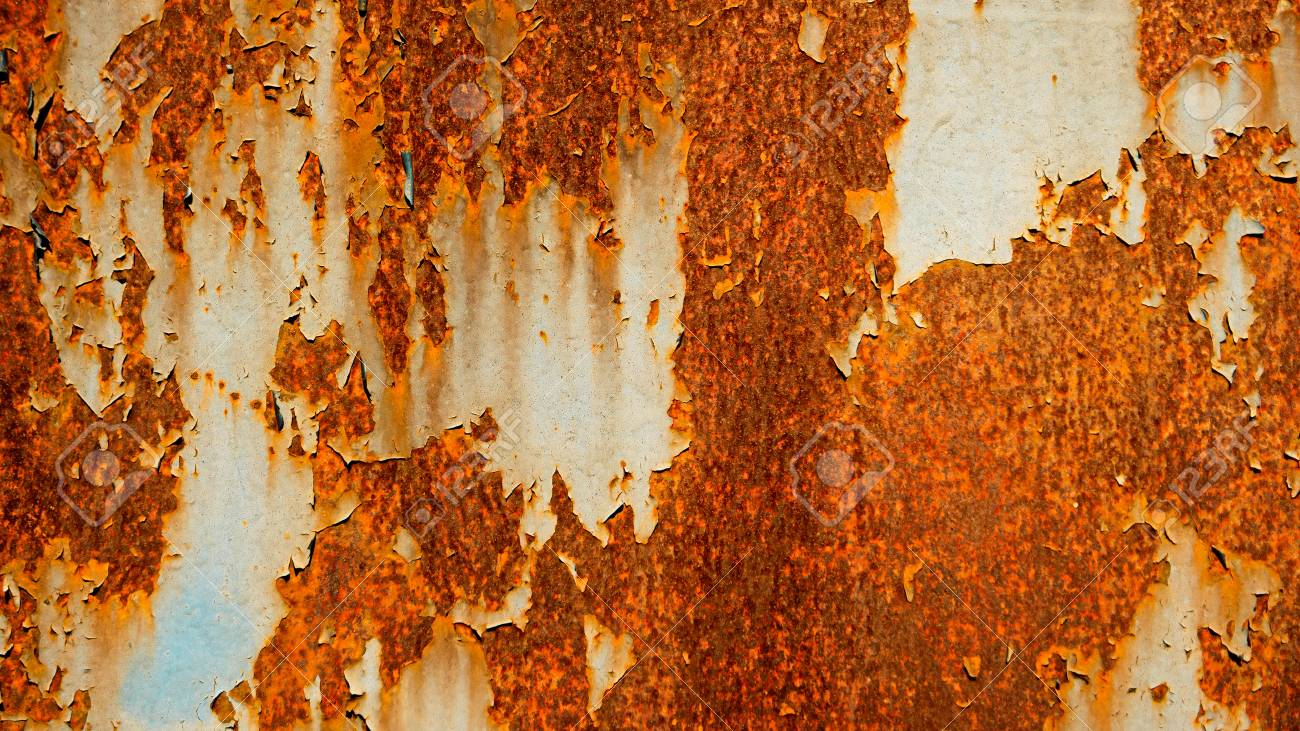 Old Rusty Metal Sheet Abstract Background Rust On Painted Weathered Steel Vintage Color