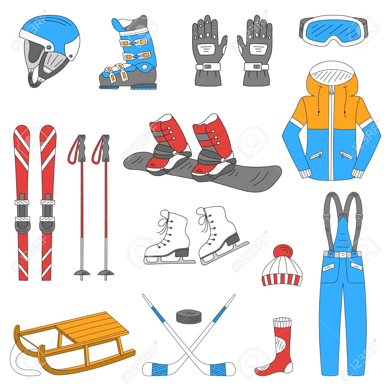 Banque d images - Hiver collection de sport de68bed8c75