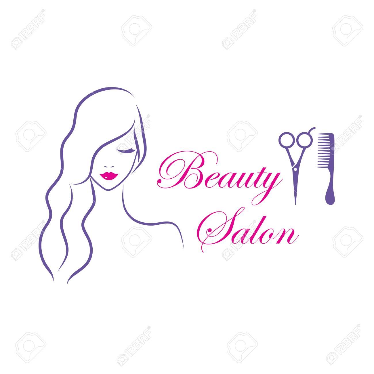 Modèle De Logo Vectoriel Belle Femme Pour Salon De Coiffure Salon