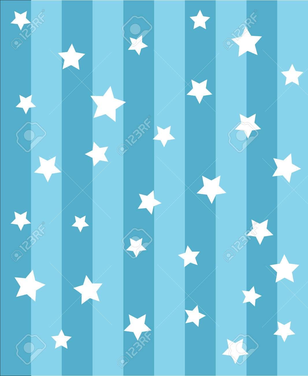 青の 3 つ星 background cute vector ロイヤリティフリークリップアート