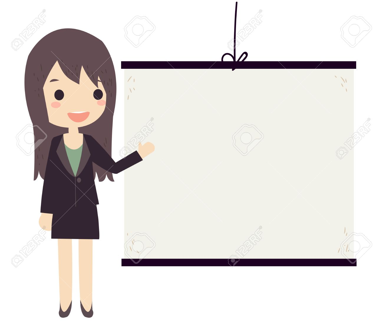 business woman wearing suit presentation vector royalty free
