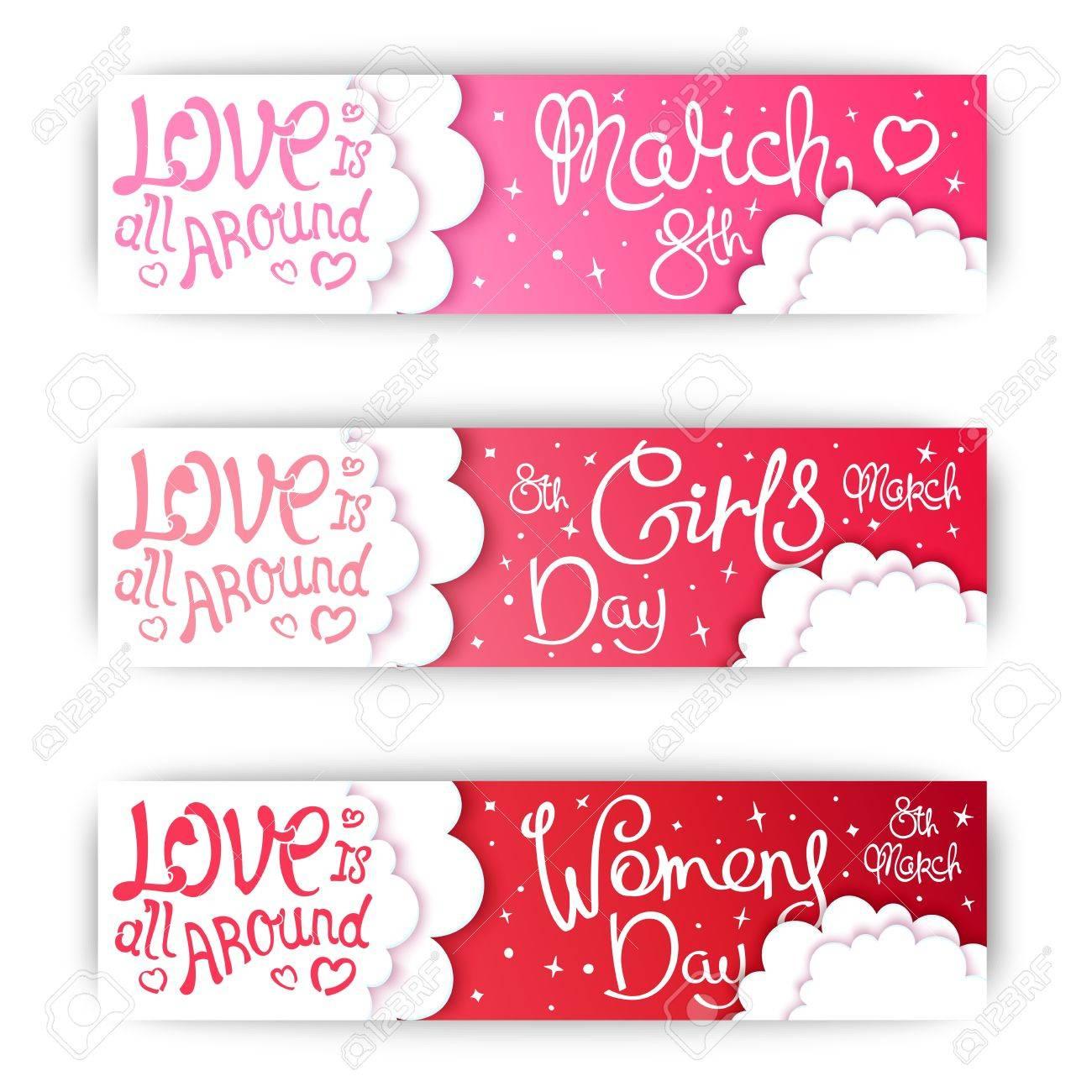 Fije Las Banderas Para El Día Internacional De La Mujer Las