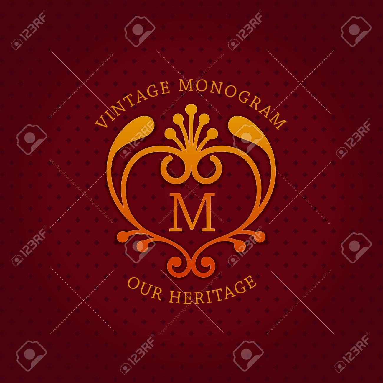 Stilvolles Vintage Emblem Mit Buchstaben \