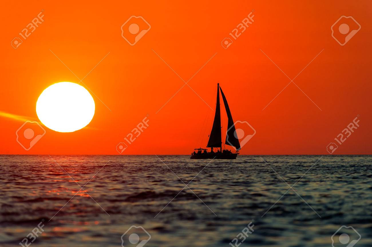Ocean Sunset Ocean Sailing Is A Silhouette Of A Sailboat And Stock Photo Picture And Royalty Free Image Image 83596460 Share your own version of this painting with us and receive comments and helpful tips for your work. ocean sunset ocean sailing is a silhouette of a sailboat and stock photo picture and royalty free image image 83596460