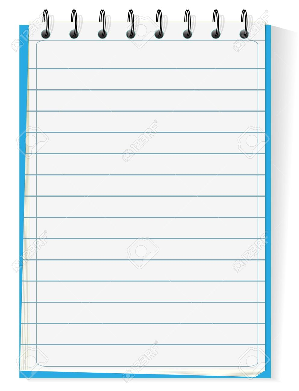 spiral notepad isolated on white royalty free cliparts vectors and