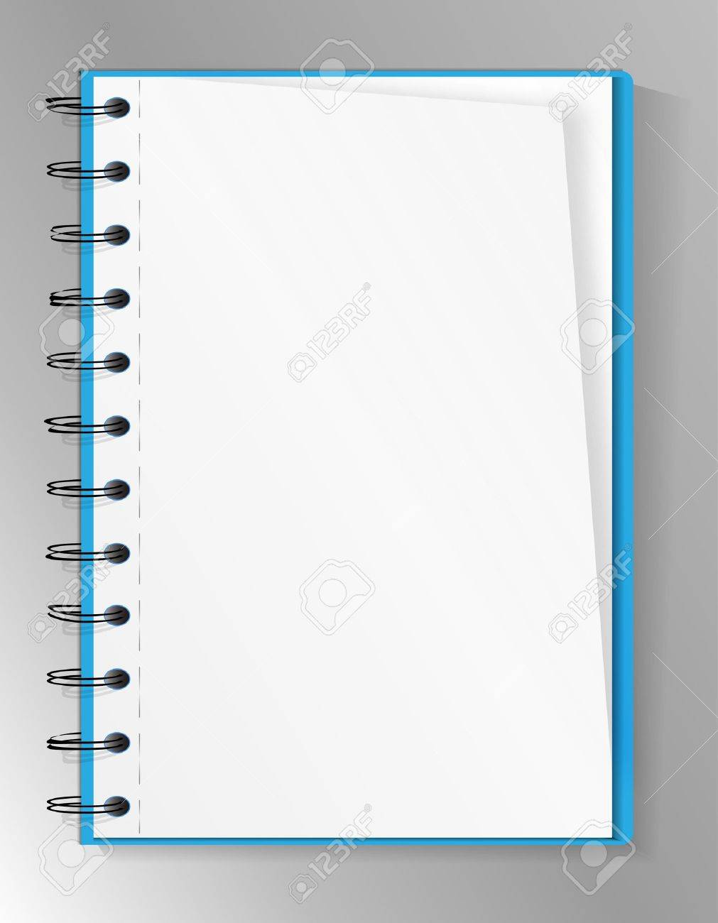 Spiral notebook Stock Vector - 9842706