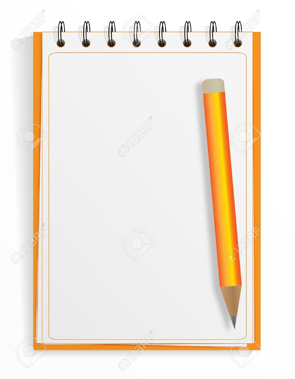 Spiral Notebook And Pencil Royalty Free Cliparts Vectors And Stock
