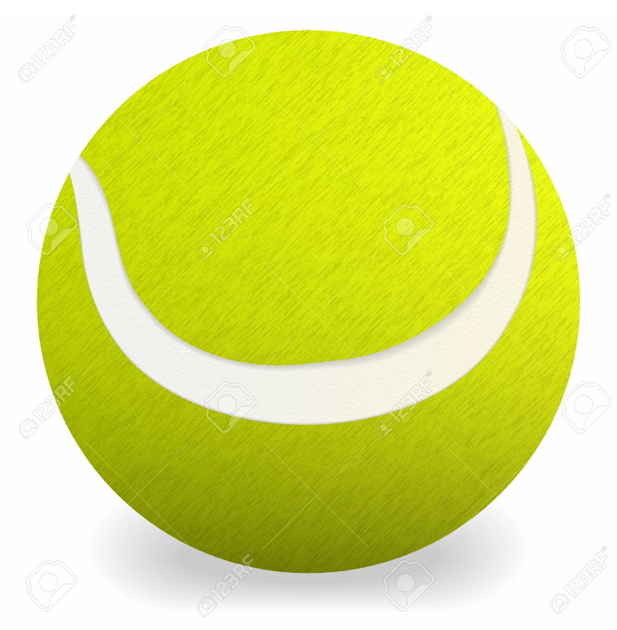 Tennis  ball on the white background Stock Vector - 9931461