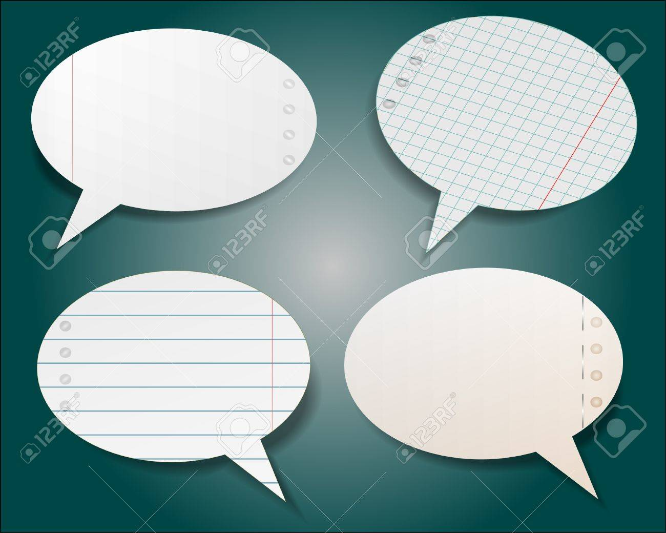 Speech bubble in notebook style Stock Vector - 10300640