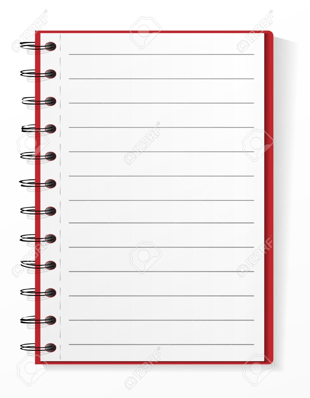 Lined spiral notebook Stock Vector - 10860376