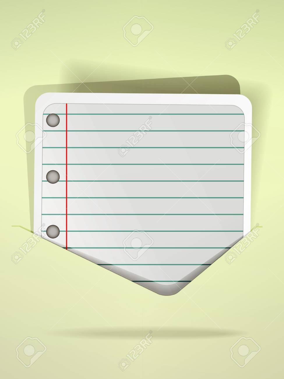 Modern speech bubble in notepad style