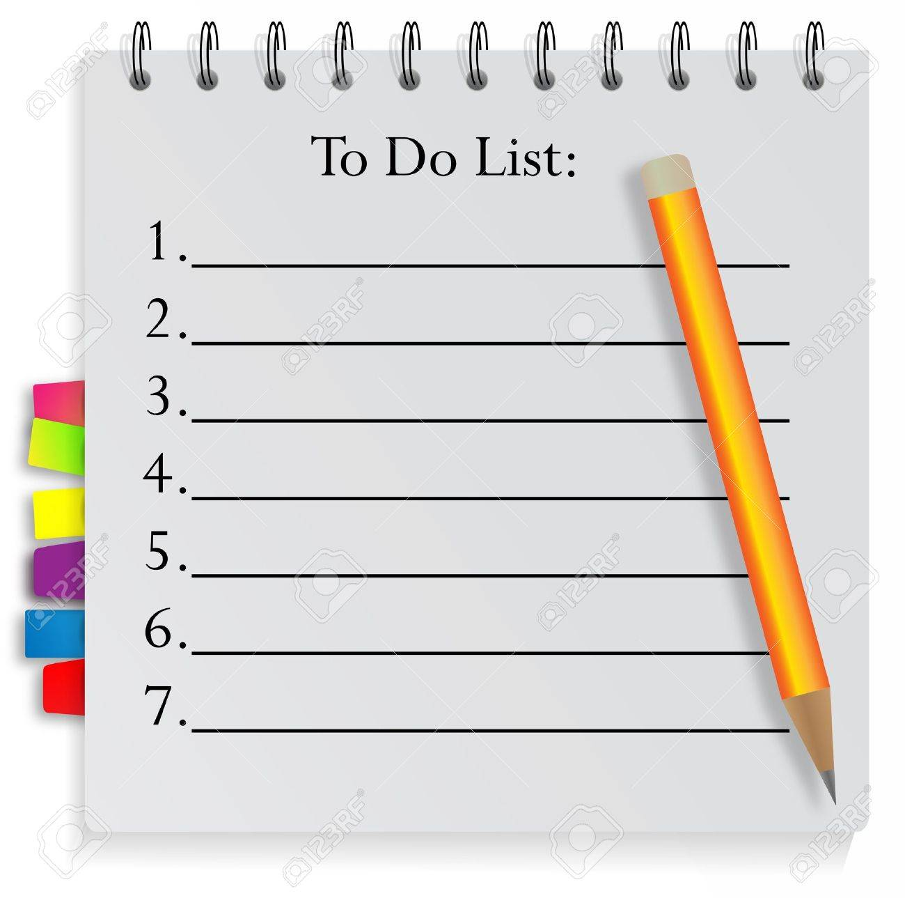 To Do List Royalty Free Cliparts, Vectors, And Stock Illustration. Image  12157386.