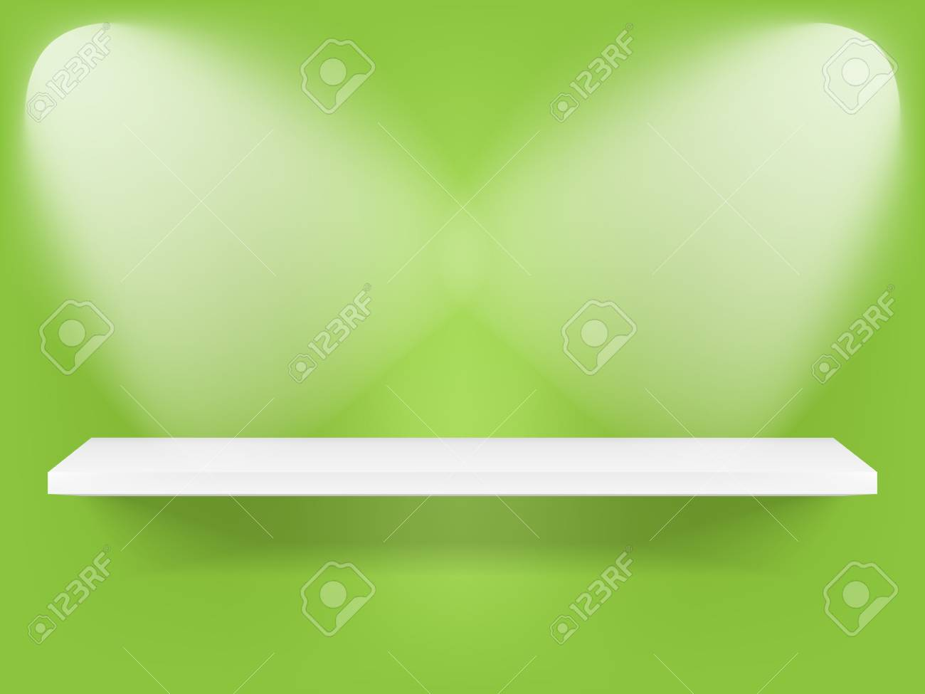 Shelf with lights Stock Vector - 12157379