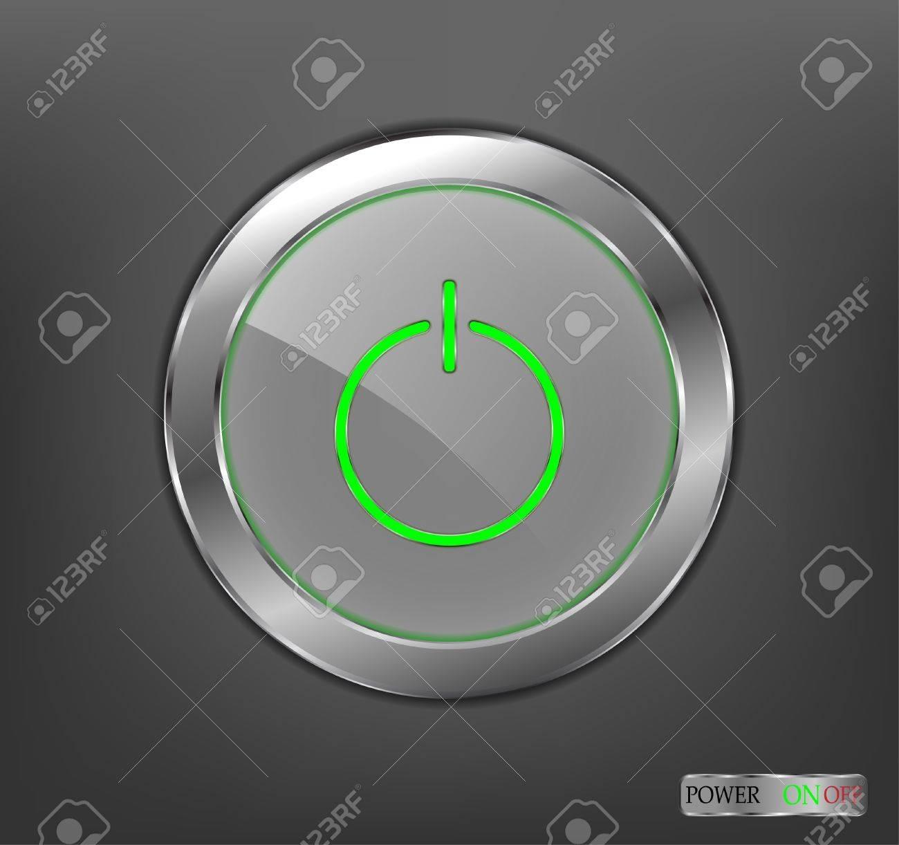 Power button Stock Vector - 12486382