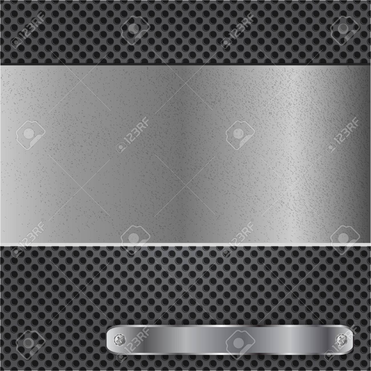Metal chrome background Stock Vector - 12543570