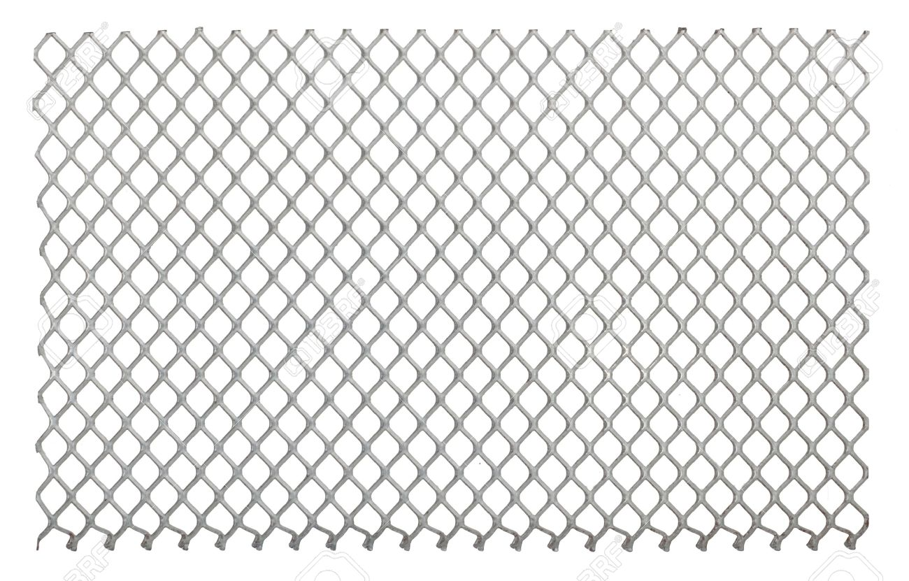 Metal net on the white background Stock Photo - 12609889