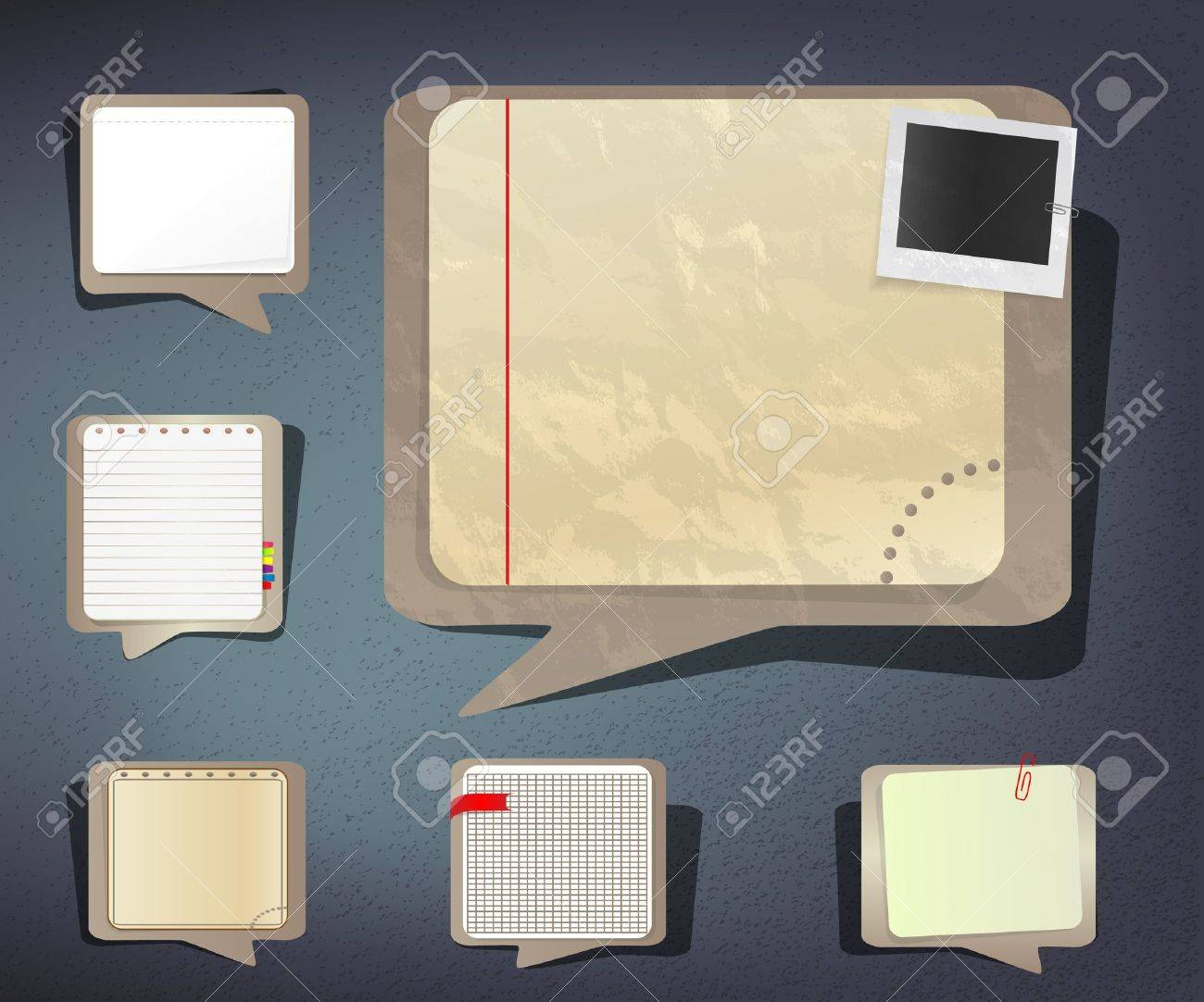 Old and new notebook paper sheets Stock Vector - 13078162