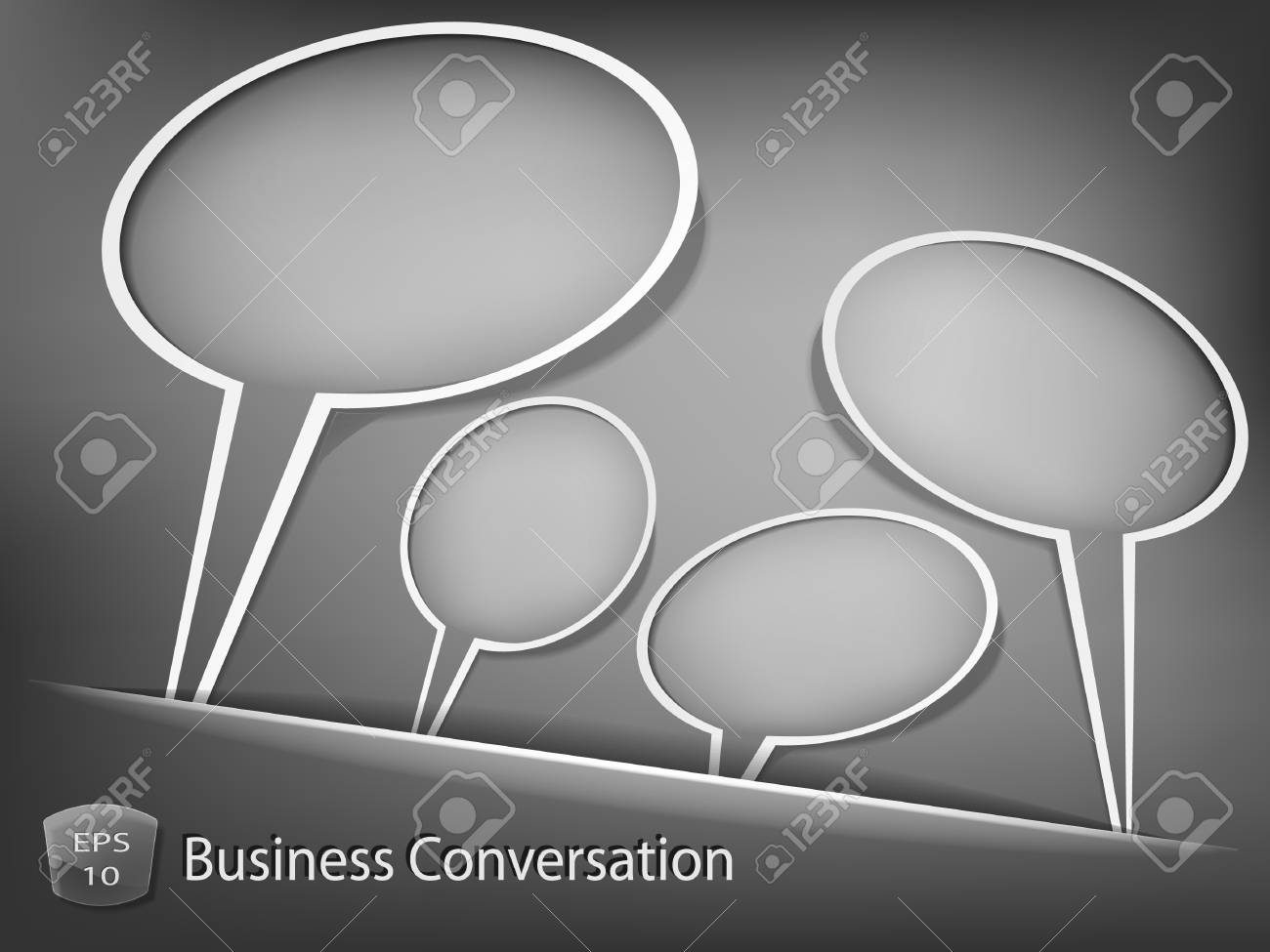 Business dialog concept Stock Vector - 13683026