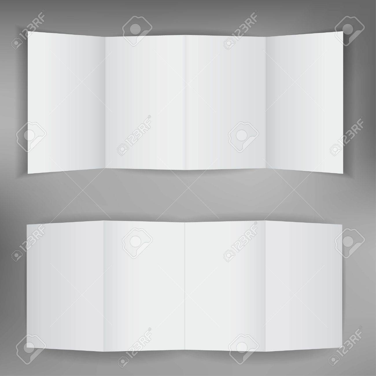 Up and down side of the blank brochure Stock Vector - 14417616