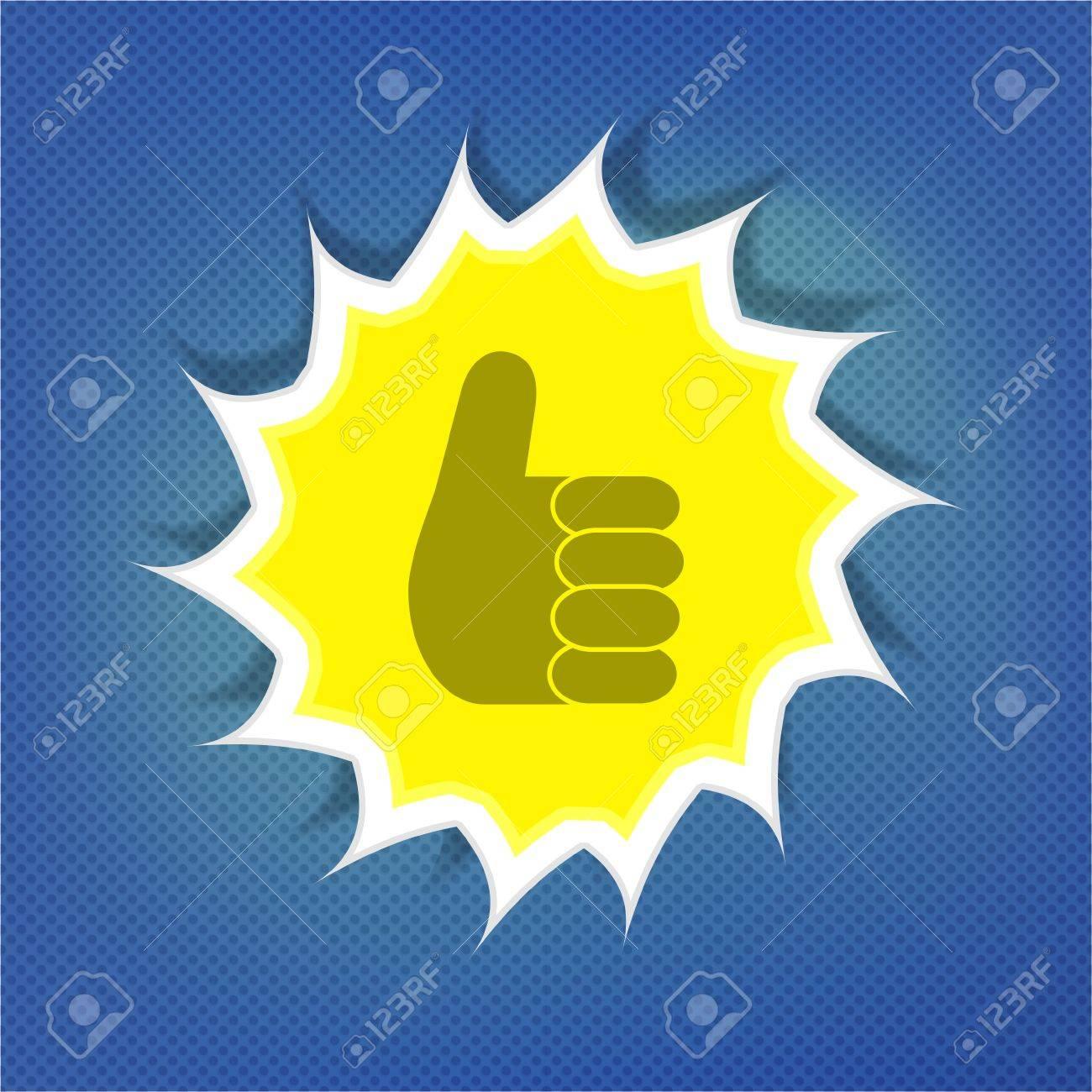 Ok sunny symbol over blue sky Stock Vector - 15275724