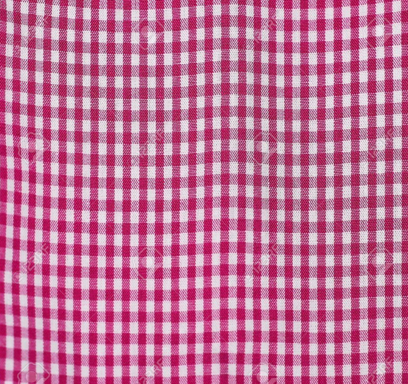 Checkered Dining Red Table Cloth Stock Photo   17308876