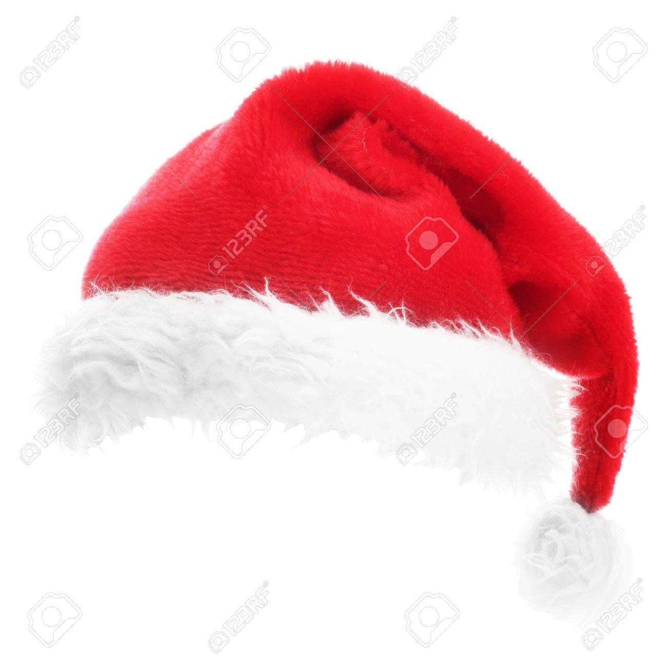 Christmas Santa hat isolated on white background - 45111238