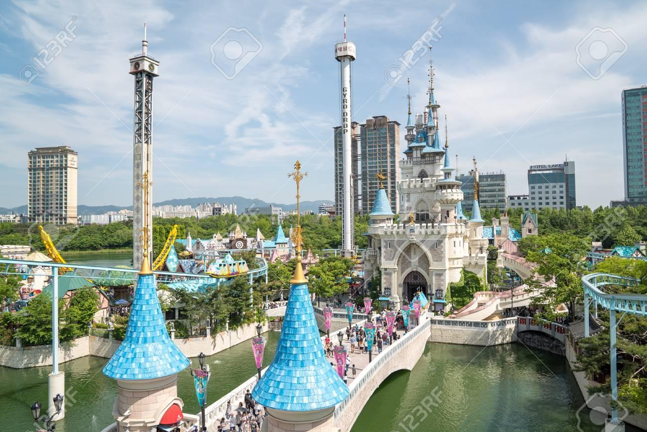 Seoul Korea May 2016 Lotte World A Famous Amusement Theme