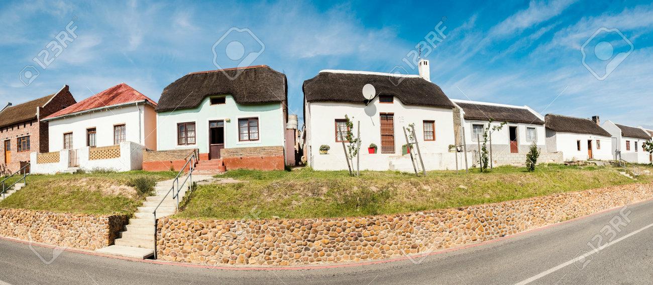 Panorama Photo Of Characteristic Cape Dutch Architecture Near