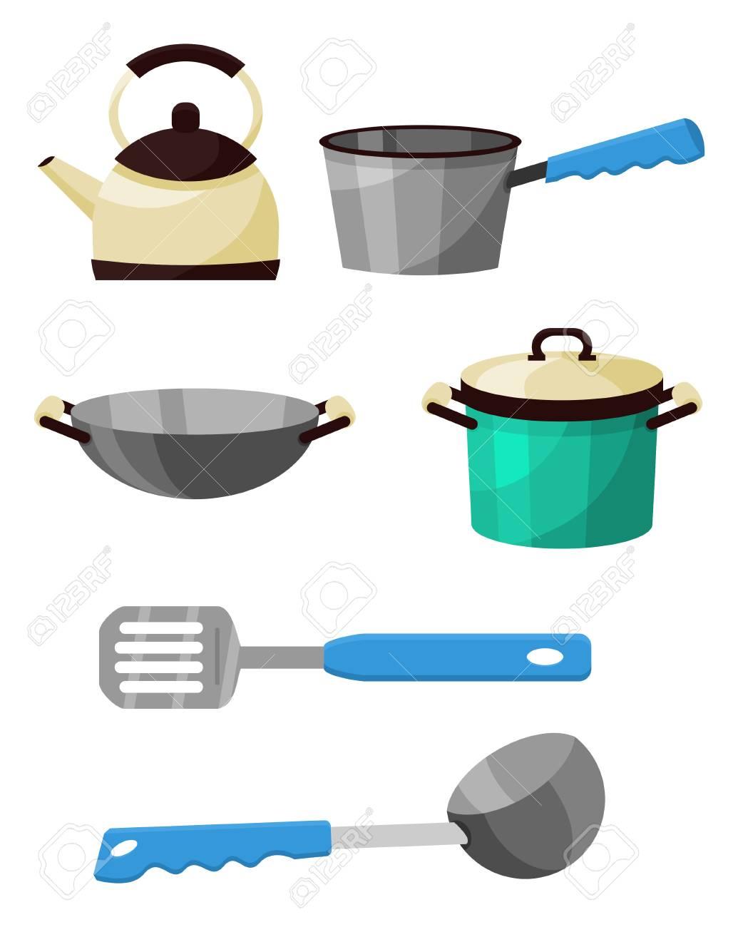 Kitchen equipments set stock vector 44292333