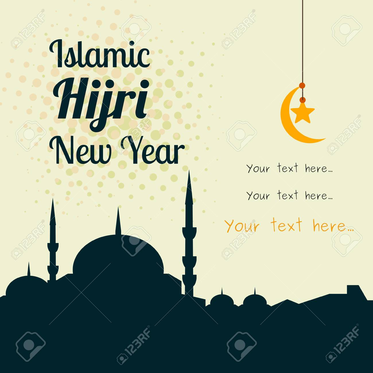 islamic hijri new year vector illustration for text background stock vector 85649012
