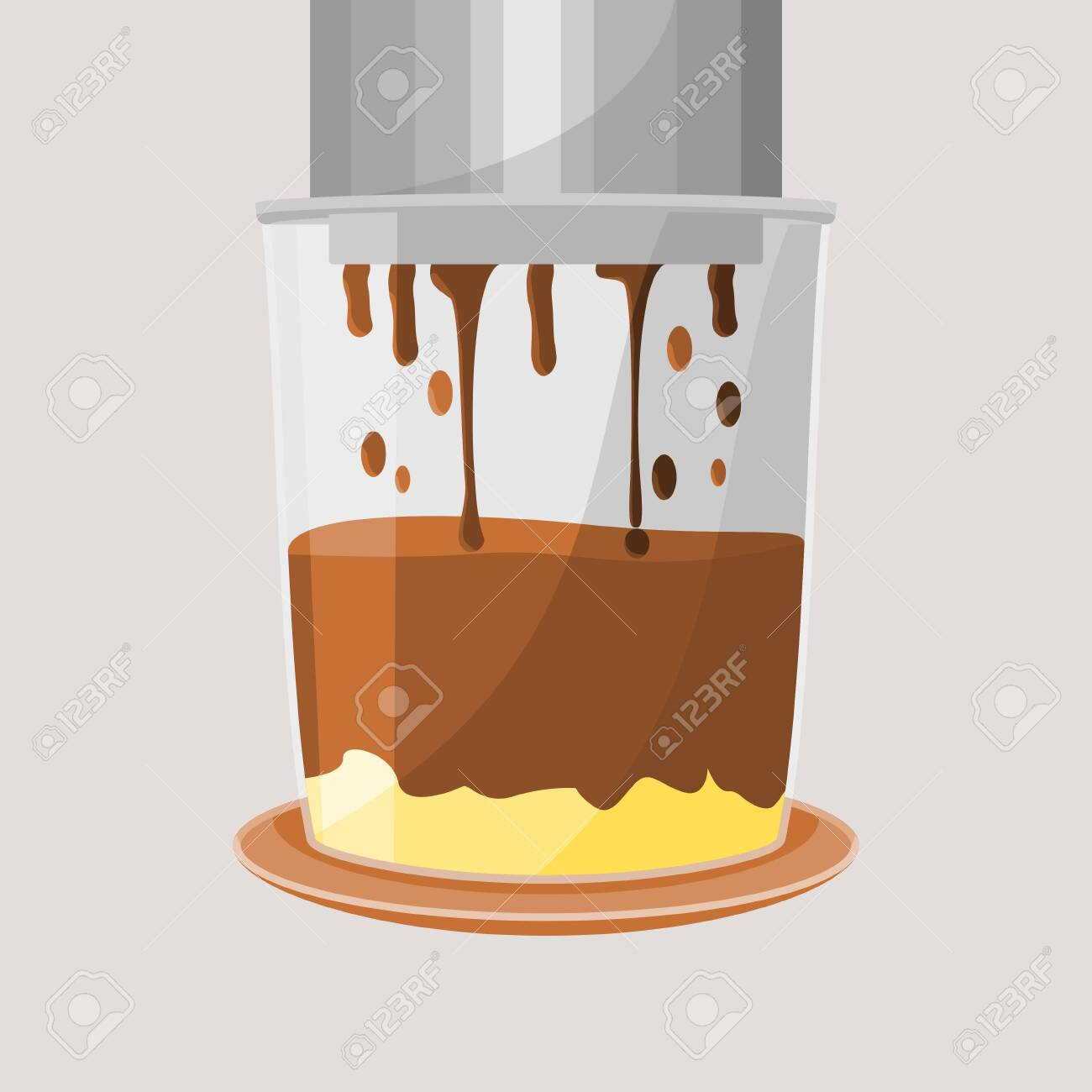 Editable Isolated Dripping Vietnamese Coffee With Condensed Milk Royalty Free Cliparts Vectors And Stock Illustration Image 137411769