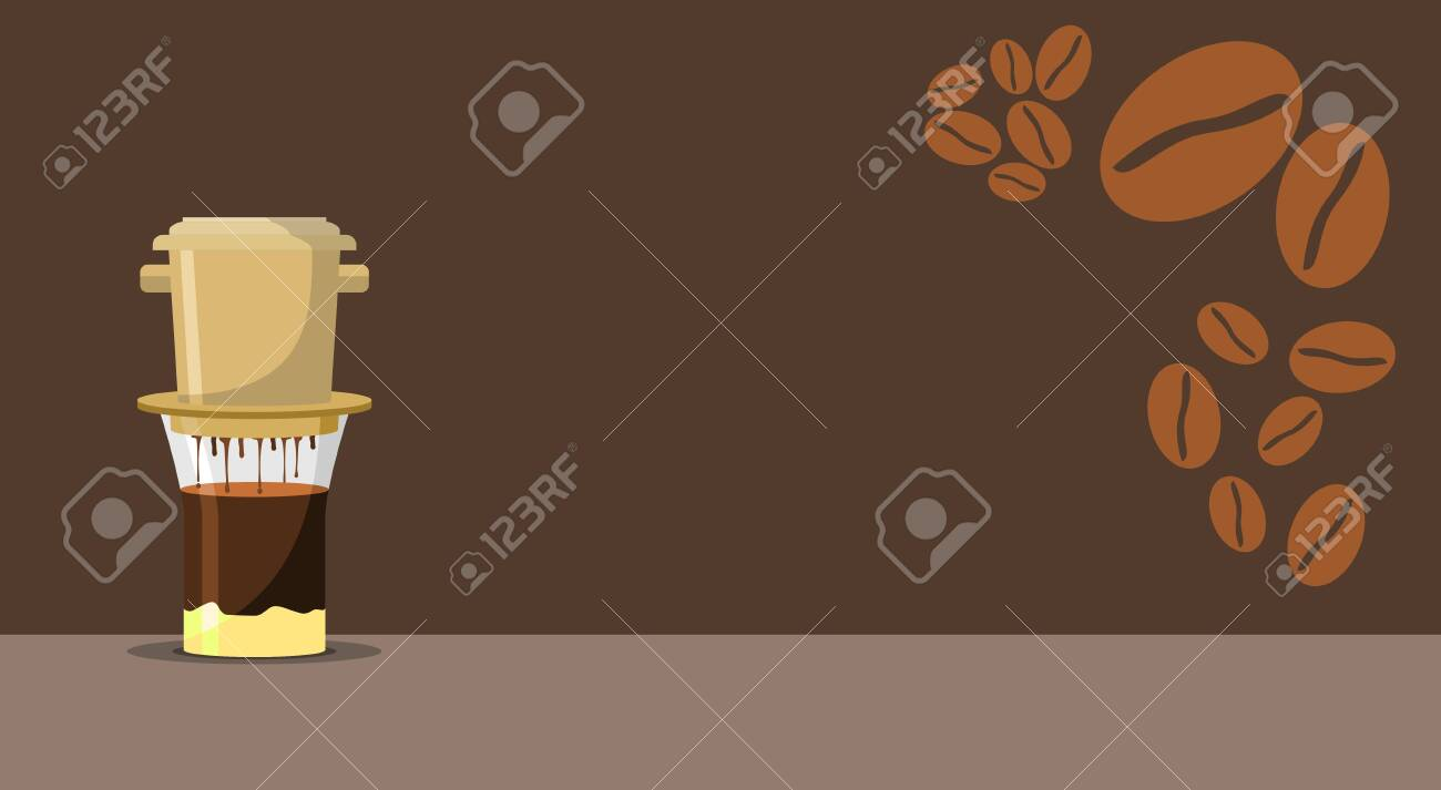 Editable Vietnamese Coffee Vector Illustration For Text Background Royalty Free Cliparts Vectors And Stock Illustration Image 137787829