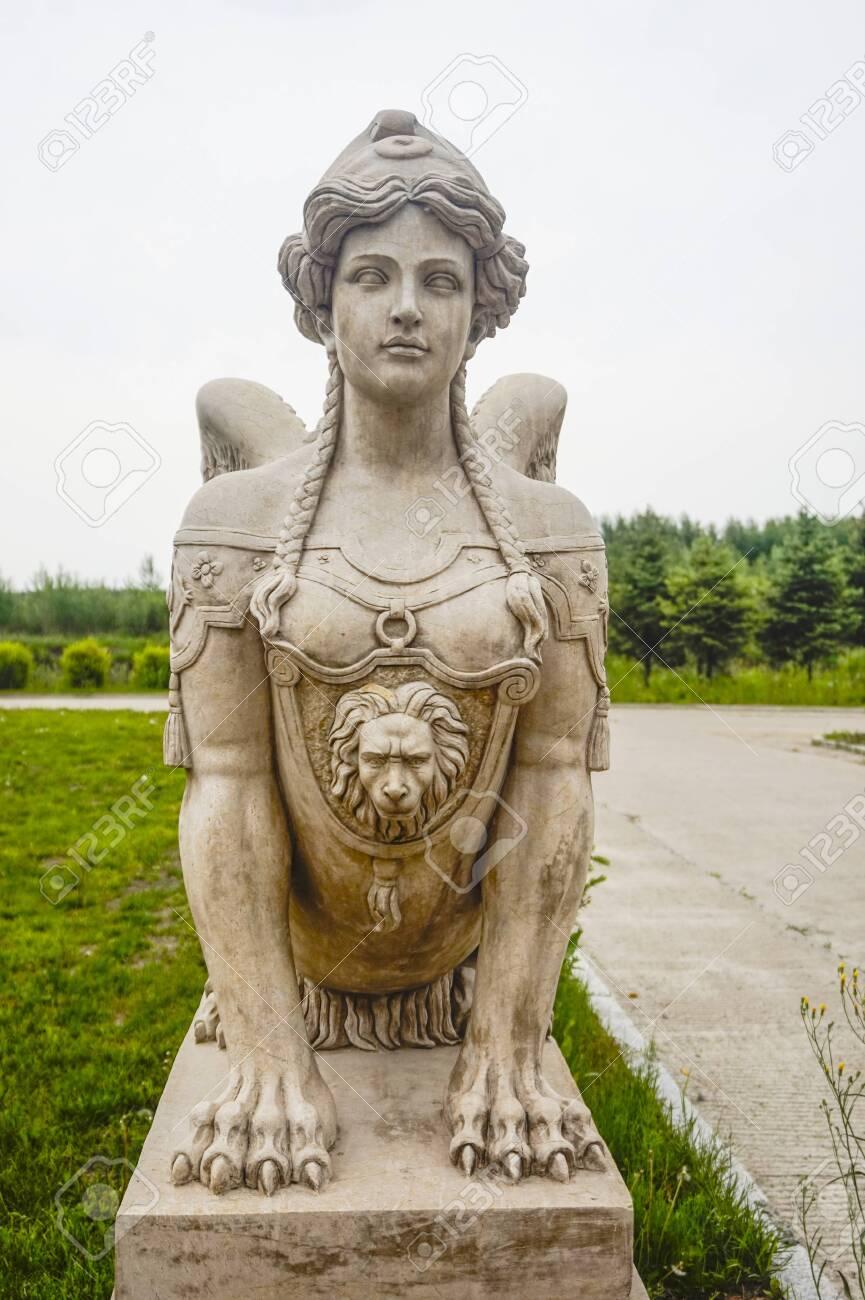Ancient Greek portrait statue - 127406090