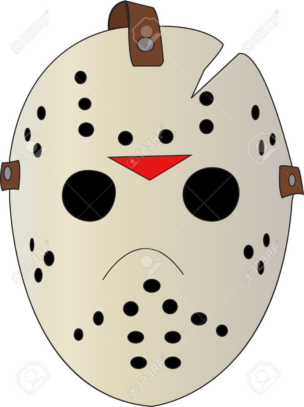 Friday The 13th Jason Hockey Mask Royalty Free Cliparts Vectors And Stock Illustration Image 15350649