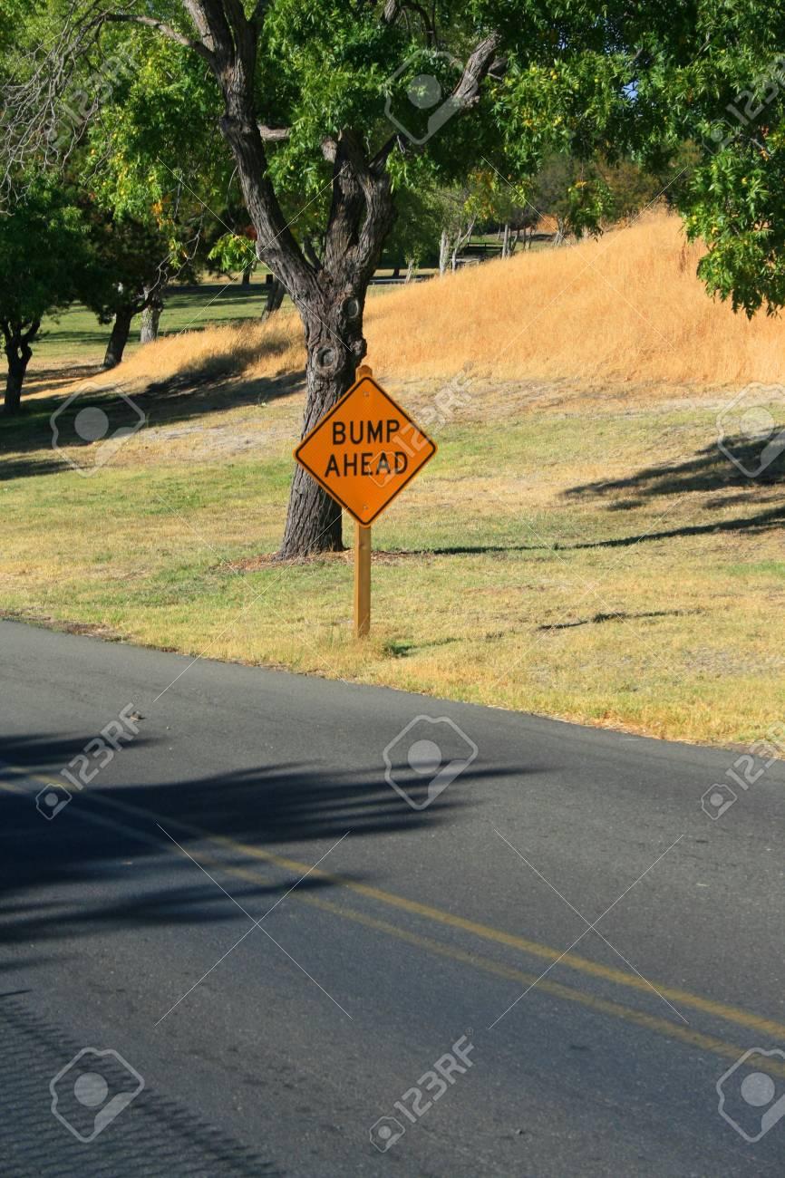 Bump Ahead Road Sign Stock Photo - 3582201