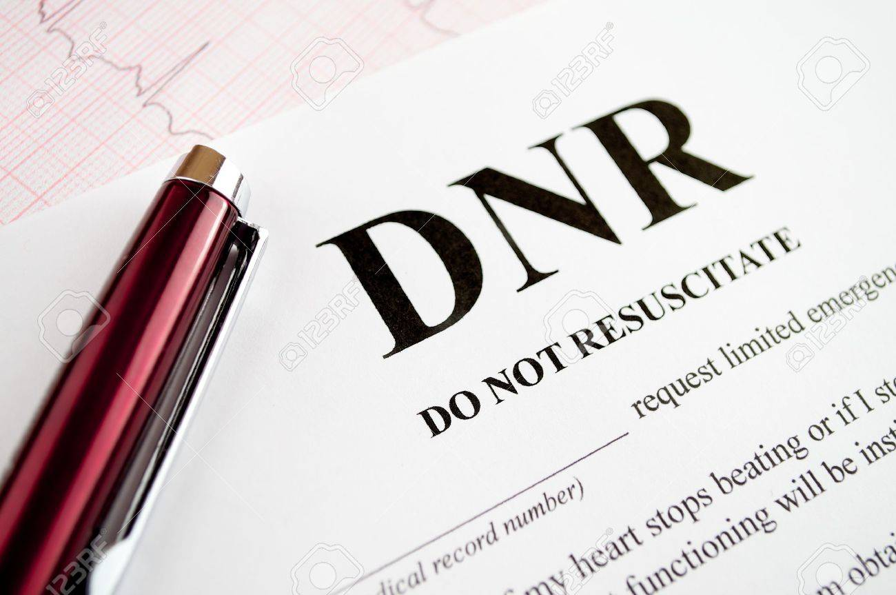 Do Not Resuscitate (DNR) Form With Pen And EKG Tracing Stock Photo   8223234