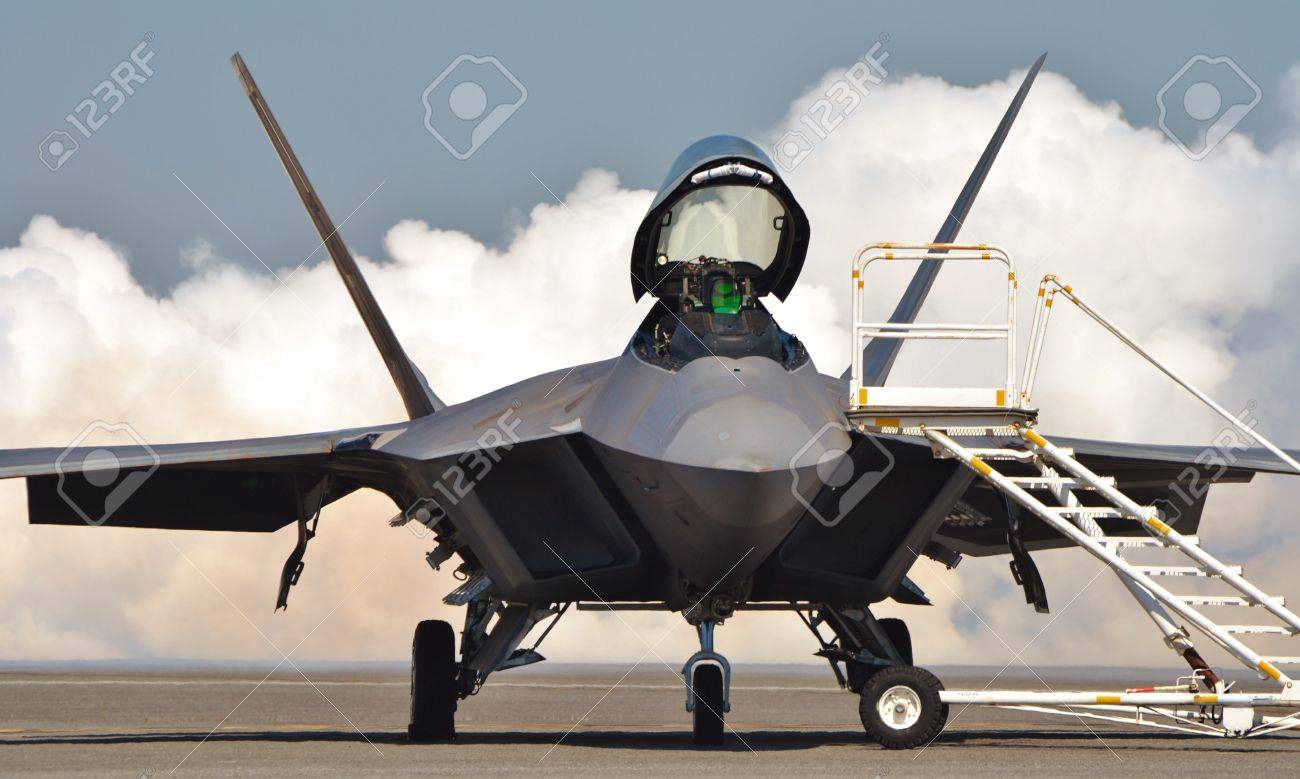 F-22 Raptor with Cockpit Open