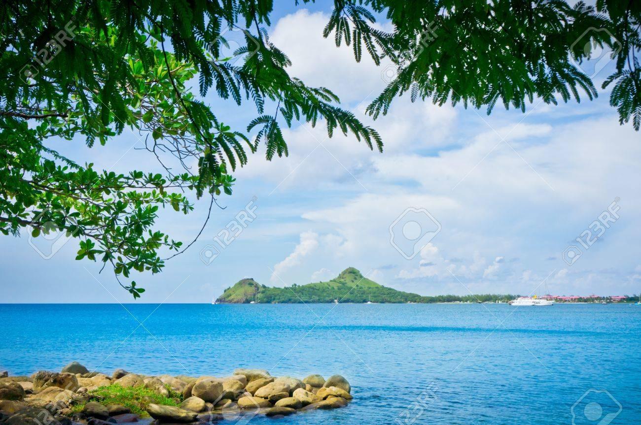 Beautiful beach in Saint Lucia, Caribbean Islands Stock Photo - 19026189