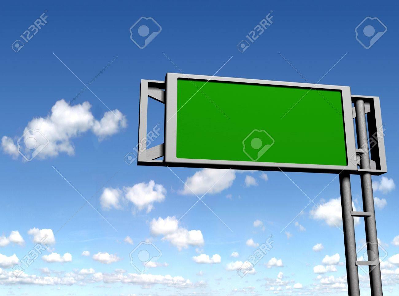 blank sign board Stock Photo - 9242496