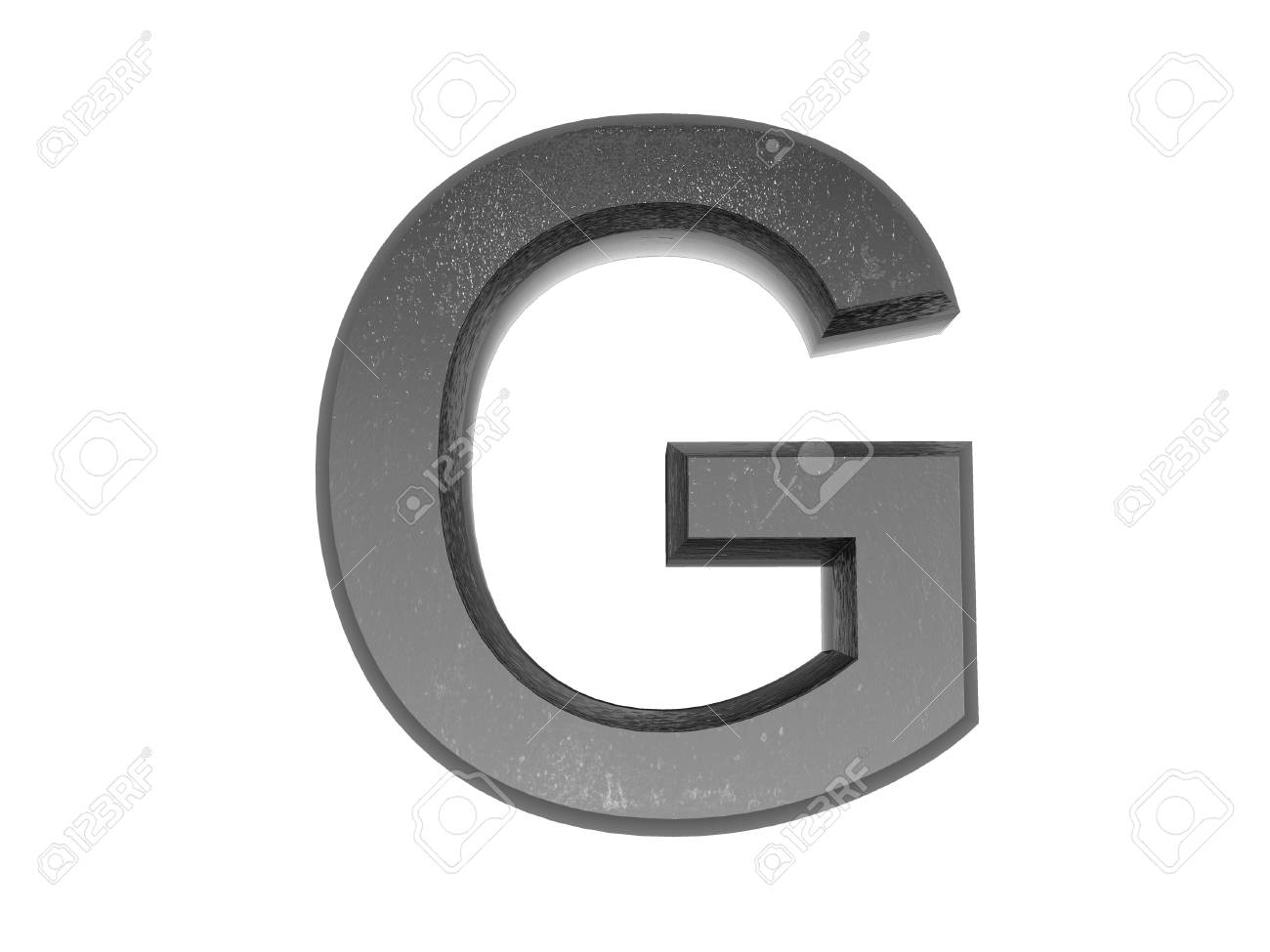3d alphabet a in metal, on a white isolated background. Stock Photo - 9327003