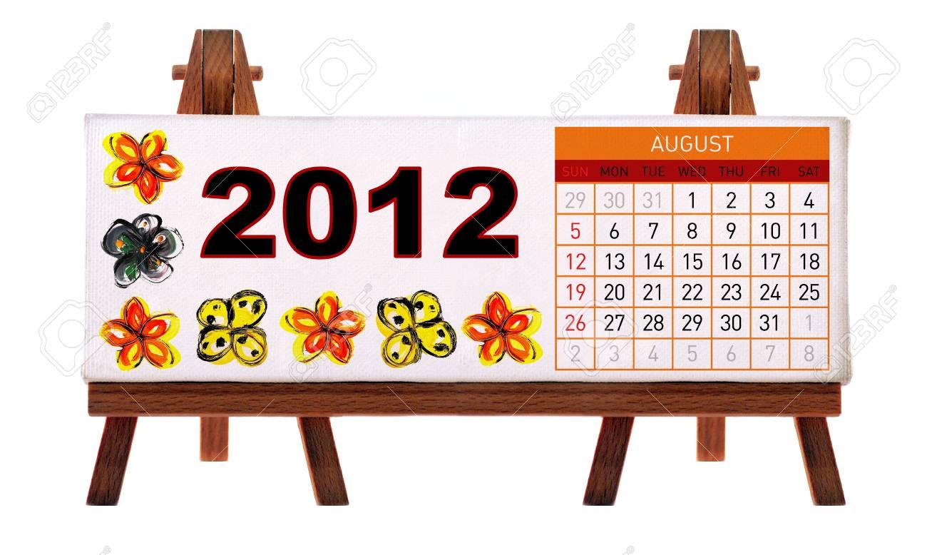 2012 desk calendar Stock Photo - 11722896