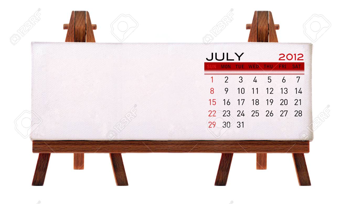 2012 desk calendar (picture and to add notes. Isolated white background.) Stock Photo - 11722874