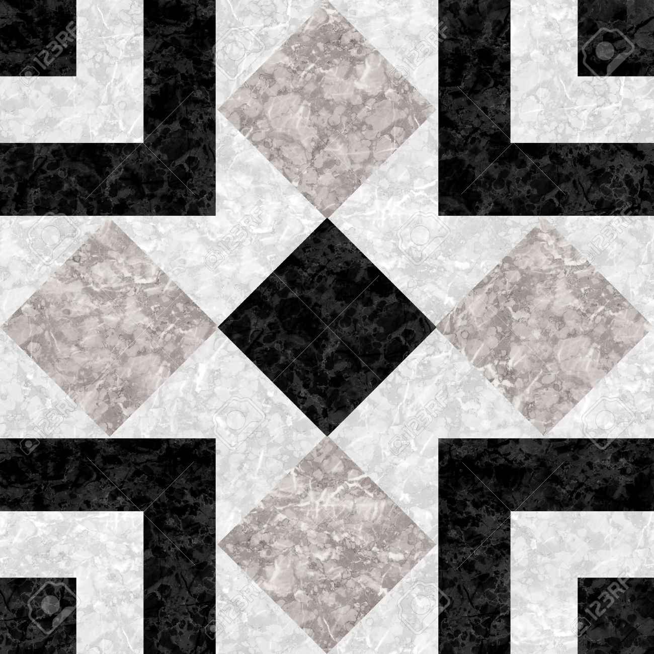 Black White Marble-stone Mosaic Texture High Res Stock Photo ...