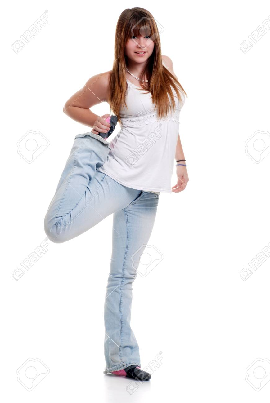 female teenager stretching Stock Photo - 5641000