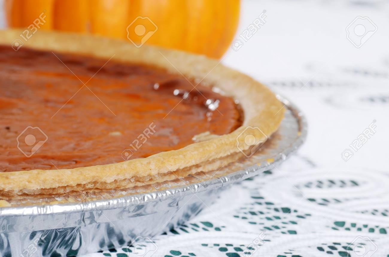 pumpkin pie focus on crust Stock Photo - 5698024