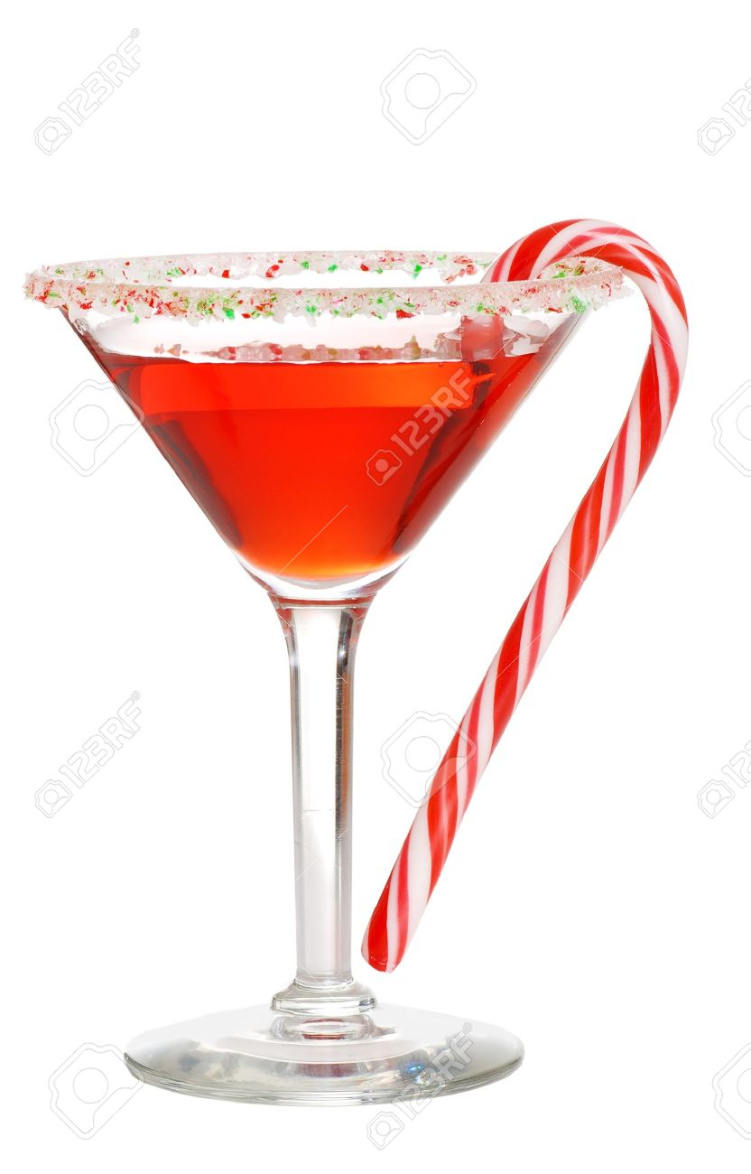 Holiday martini with a candy cane Stock Photo - 8602915